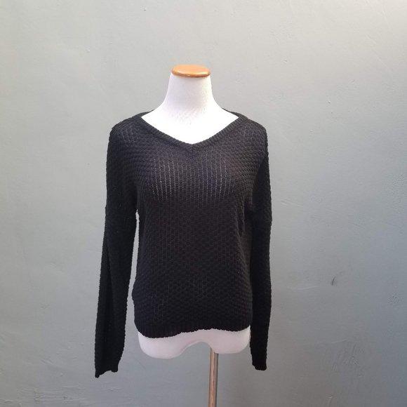 Brandy Melville One Size Open Knit V-neck Sweater